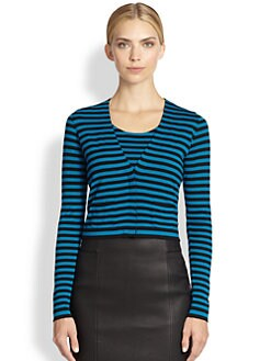 Akris Punto - Striped Wool Cardigan