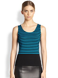 Akris Punto - Striped Wool Tank
