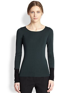 Akris Punto - Wool Contrast Cuff Sweater