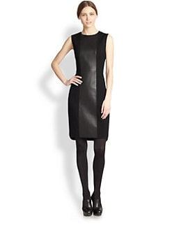 Akris Punto - Faux Leather Inset Dress