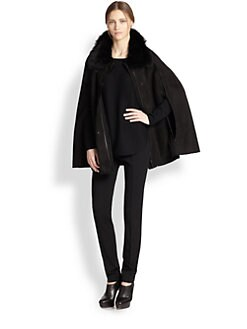 Akris Punto - Shearling Cape