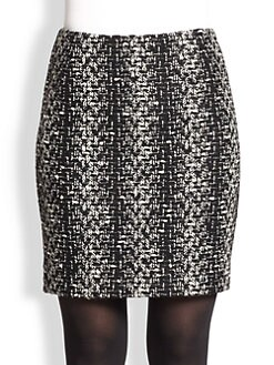 Akris Punto - Wool Tweed Mini Skirt