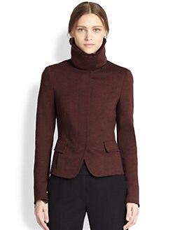 Akris Punto - Lamb Fur Collar Jersey Jacket