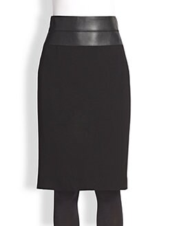 Akris Punto - Faux Leather-Trimmed Skirt