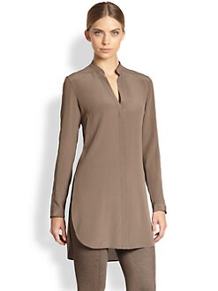 Akris Punto - Silk Mandarin Collar Tunic