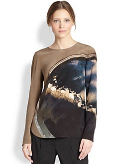 Akris Punto - Silk Arc Of Tibet Print Blouse