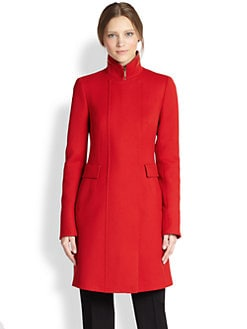 Akris Punto - Wool Stand Collar Coat