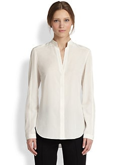 Akris Punto - Silk Mandarin Collar Blouse