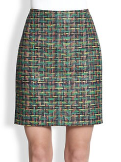 Akris Punto - Tweed Mini Skirt