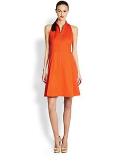 Akris Punto - Zip Front Collared Dress