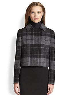 Akris Punto - Plaid Wool Flannel Jacket