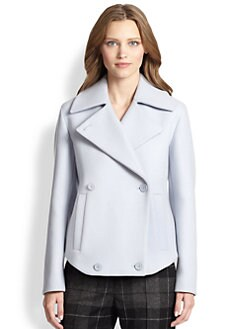 Akris Punto - Cropped Wool Double-Breasted Coat