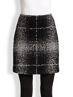 Akris Punto - Check Boucle & Jersey Skirt