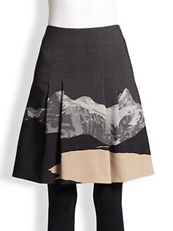 Akris Punto - Swiss Alps-Print Wool Skirt