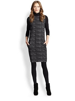 Akris Punto - Ski Lift Print Turtleneck Dress