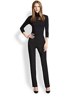 Akris Punto - Beaded Mock Turtleneck Top