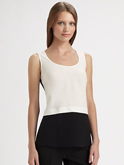 Akris Punto - Silk Colorblock Tank