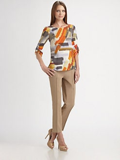 Akris Punto - Silk Brushstroke Print Blouse