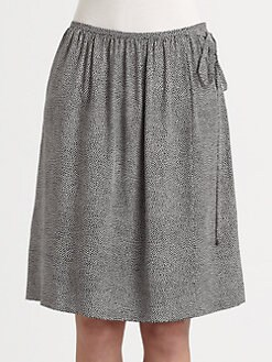 Akris Punto - Mini Dot Silk Skirt