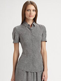 Akris Punto - Mini Dot Silk Blouse