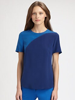 Akris Punto - Silk Colorblock Top