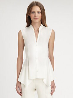 Akris Punto - Cotton Peplum Blouse