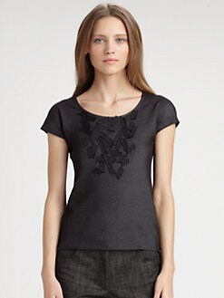 Akris Punto - Embellished Cap-Sleeve Tee