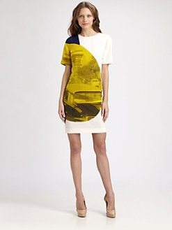 Akris Punto - Silk Focus Print Dress