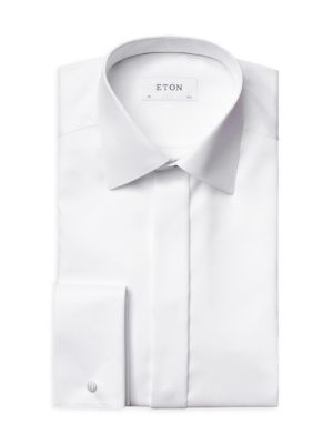 Contemporary-Fit Diamond Weave Formal Dress Shirt