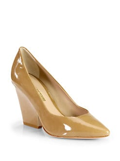Pour La Victoire - Aeesha Wedge Point-Toe Pumps/Tobacco