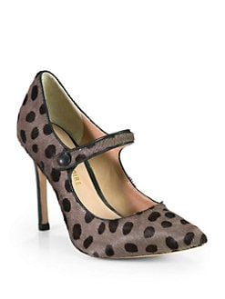 Pour La Victoire - Case Leopard Print Haircalf Pumps