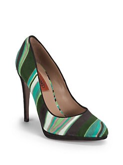 Missoni - Striped Velvet Pumps
