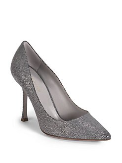 Sergio Rossi - Pressed Suede Point-Toe Pumps