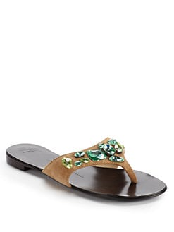 Giuseppe Zanotti - Jewel Flat Thong Sandals