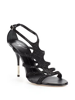 Giuseppe Zanotti - Jet Stone Suede High Heel Sandals