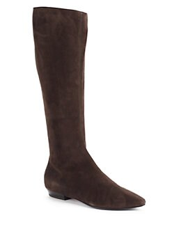 Giuseppe Zanotti - Suede Knee-High Flat Boots