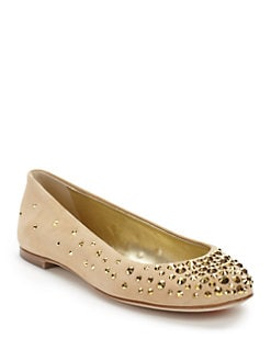 Giuseppe Zanotti - Studded Suede Ballet Flats