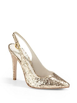 Alice + Olivia - Darcy Glitter Slingback Heels