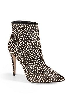 Alice + Olivia - Dorris Calf Hair Ankle Boots