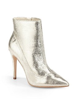 Alice + Olivia - Dorris Embossed Leather Ankle Boots