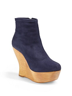 Alice + Olivia - Java Stretch Suede Ankle Boots