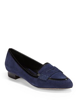 Alice + Olivia - Madison Suede & Leather Loafers