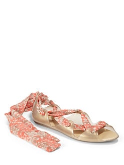 Melissa - Wind Lace-Up Flat Sandals