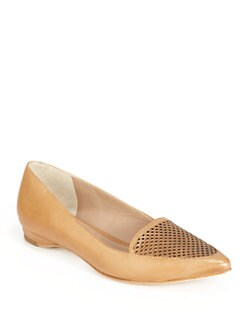 Pour La Victoire - Adeana Perforated Leather Wedge Pumps