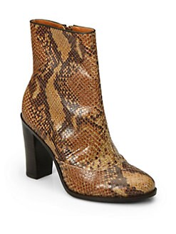 Pour La Victoire - Lane Python-Embossed Leather Ankle Boots