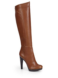 Rachel Zoe - Chloe Tumbled Leather Platform Boots