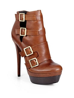 Rachel Zoe - Danielle Multi-Buckle Double Platform Ankle Boots