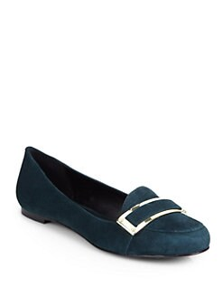 Rachel Zoe - Lily Kid Suede Smoking Slippers