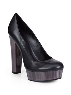 Rachel Zoe - Leila Leather Platform Pumps