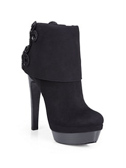 Rachel Zoe - Ava Kid Suede Double Platform Ankle Boots